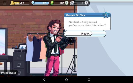 Nice line, Garrett